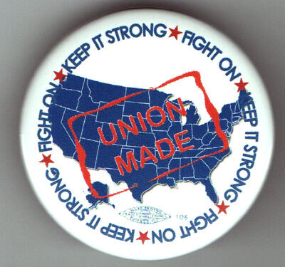 WISCONSIN pin LABOR UNION Made USA America MAP