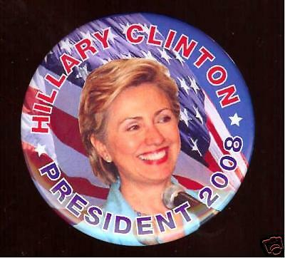 HILLARY Clinton 2008 Primary pin CAMPAIGN pinback