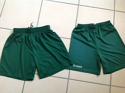 Two Pairs Of Mens Green Football Shorts Size S