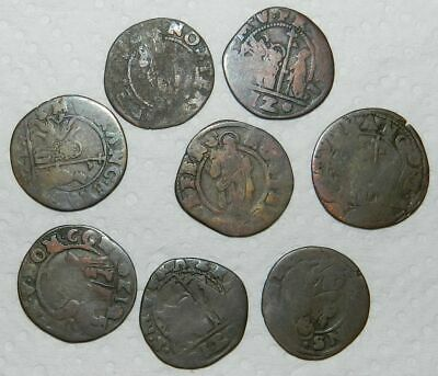 VENICE : LOT OF 8 OLD COINS - Ca. 17th Century  - For Research