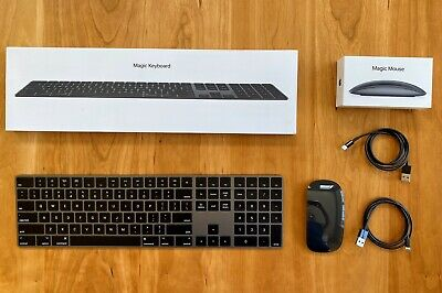 Apple Magic Keyboard with Numeric Trackpad and Magic Mouse 2 Space Gray