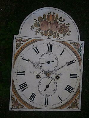 C1850 8 day   LONGCASE GRANDFATHER CLOCK DIAL+movement 13X18+1/4       john smit