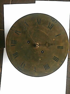C1800 8 day   LONGCASE GRANDFATHER CLOCK DIAL+movement 12 inch   sheperd  of woo
