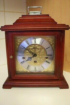 German Bracket Clock Westminster Chimes, Franz Herlme Floating Balance V.G.W.O.