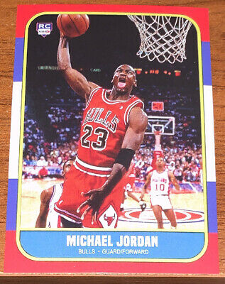 Michael Jordan Reprint 1986 Fleer Variation Rookie Card Must See!!