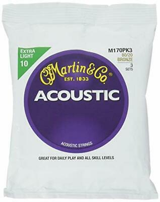 Martin M170 80 20 Bronze Acoustic Guitar Strings Extra Light 58556 fromJAPAN