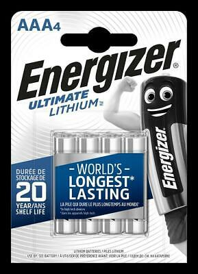 40  x Energizer Ultimate Lithium AAA Micro Batterien LR03 AM4 MN2400