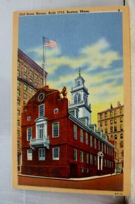 Massachusetts MA Boston State House Postcard Old Vintage Card View Standard Post