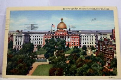 Massachusetts MA Boston Common State House Postcard Old Vintage Card View Post