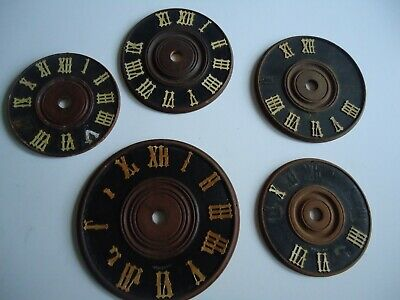 5 Vintage Wooden Cuckoo Clock dial face for restoration