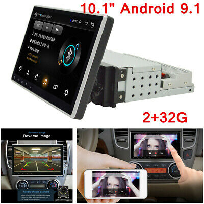"""10.1"""" 1Din Car Stereo Radio Android 9.1 Quad Core RAM 2G WIFI BT GPS Navigation"""