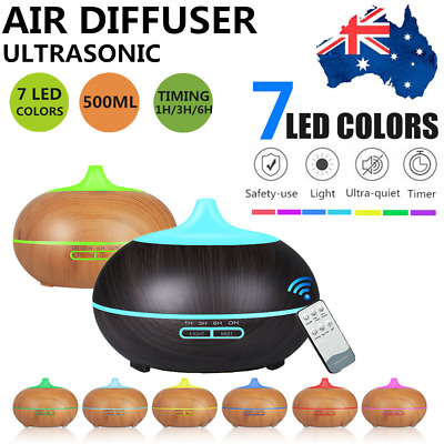 LED Aroma Aromatherapy Diffuser Ultrasonic Air Humidifier Purifier Essential Oil