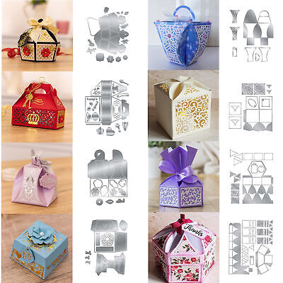 Gift Box Metal Cutting Dies Embossing DIY Decoration Scrapbooking Stencils Craft