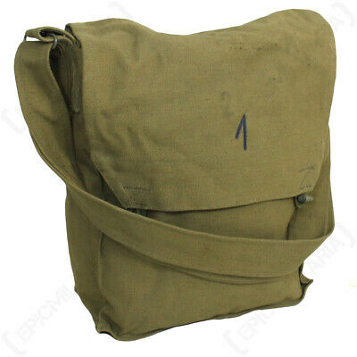 Original Czech BSS Sidepack - Surplus Army Gas Mask Olive Green Canvas Bag