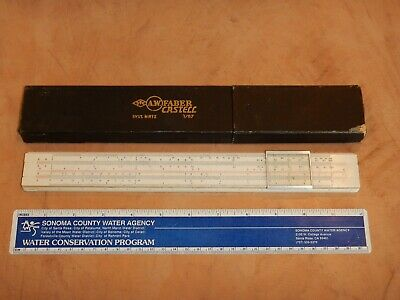 Vintage A.w. Faber Castell 1/87 Slide Rule System Rietz, With Original Box