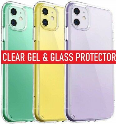 360 Case For iPhone 11 Pro Max Cover Silicone Shockproof & Screen Protector