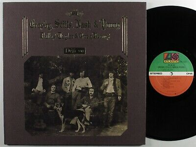CROSBY, STILLS, NASH & YOUNG Deja Vu ATLANTIC LP VG+/VG++ textured gatefold