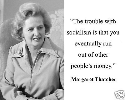 "Margaret Thatcher /""Socialism/"" Conservative Quote Framed Matted Photo Photograph"