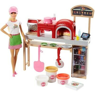 Barbie Cooking & Baking Pizza Chef,Distressed Box,New
