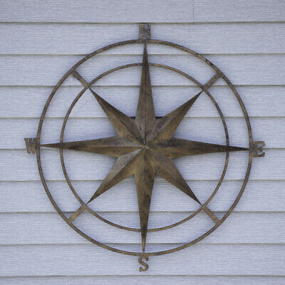 Nautical Compass Wall Decor Metal Art Wall Hanger