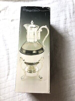 Vintage 'Regal Silver'  Silver Plated Coffee Carafe On Warmer NIB