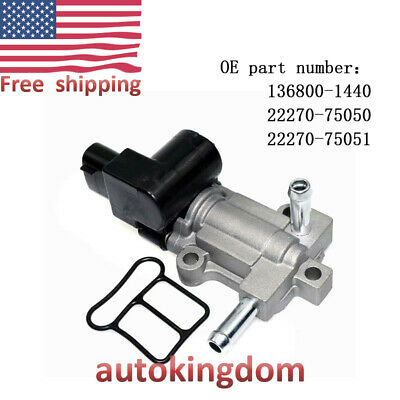 For Toyota 4Runner Tacoma 2.4 2.7L L4  Idle Air Control Valve IACV 2227075050