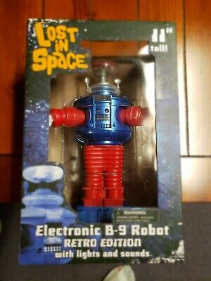 Diamond Select Toys Lost in Space: Electronic  B-9  Robot Figure Retro