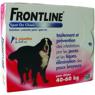 FRONTLINE Spot On chien 40-60kg - 6 pipettes