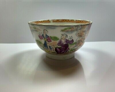 Chinese Antique Porcelain Bowl Beautiful Hand Painted Scene of People and Nature