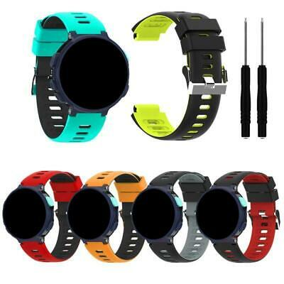 Silicone Wrist Strap Two-color Watchband for Garmin Forerunner 235/220/230 Watch