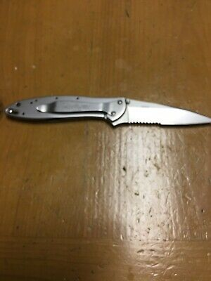 Kershaw 1660ST Leek Stainless Steel Combo Edge Pocket Knife