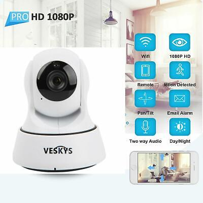 1080P HD Pan/Tilt Home Security WiFi IP CCTV Camera Webcam IR-CUT Two-way-Audio