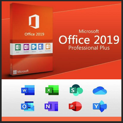 Microsoft Office 2019 Professional Pro Plus Key Lifetime License