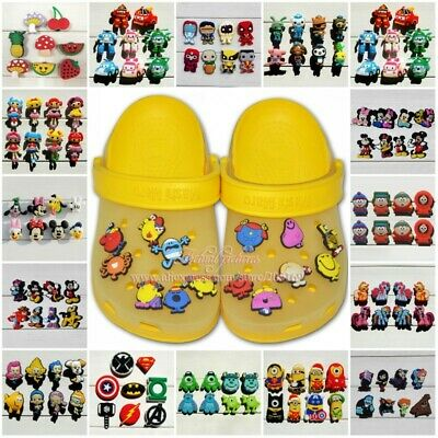 50-100PCS Cartoon PVC Shoe Charms Accessories fit for Shoes & Bracelets Kid Gift