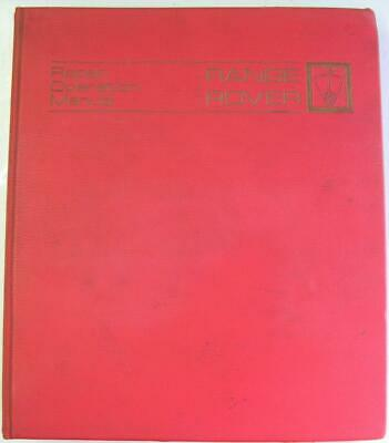 RANGE ROVER Illustrated Workshop Manual May 1975 #606893/E 2, Issue 2