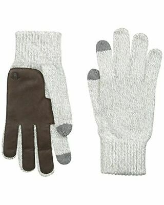 True Religion Knit Touchscreen Gloves Grey Gloves Leather palm-STYLE WINTER WARM