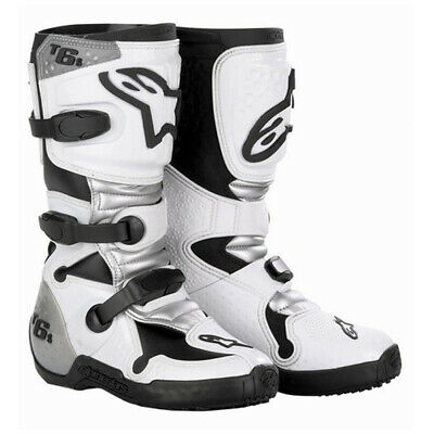 Alpinestars Tech 6S Youth Motocross MX Stiefel Weiß