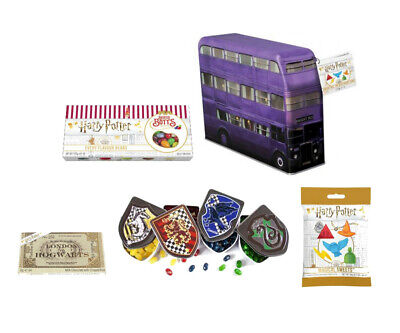 Harry Potter Sweets Bertie Botts Gift Box Houses Crest Tins Knightbus Candy Tin