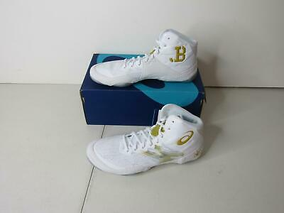 Asics Size 9 Men's White/Gold JB Elite IV Wrestling Shoes