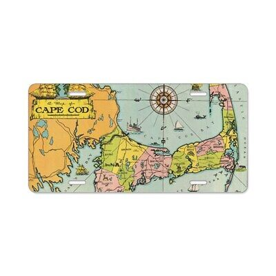 CafePress Vintage Map Of Cape Cod License Plate (1646464653)