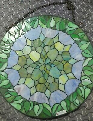17 Inch Diameter Tiffany Style Stained Glass Wall/ Window Design