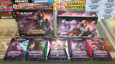 Mtg Throne Of Eldraine  Booster Box + Bundle Box + Theme Booster Set Of (5)