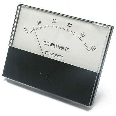 Analog Panel Meter, 0 - 50 millivolts DC, 4.5 inch