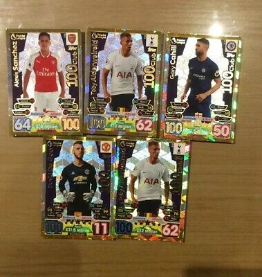 topps match attax 2016/17 100 Club - Various Cards