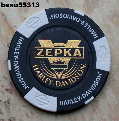 "HARLEY DAVIDSON ""ZEPKA"" JOHNSTOWN PENNSYLVANIA DEALER 110th POKER CHIP"