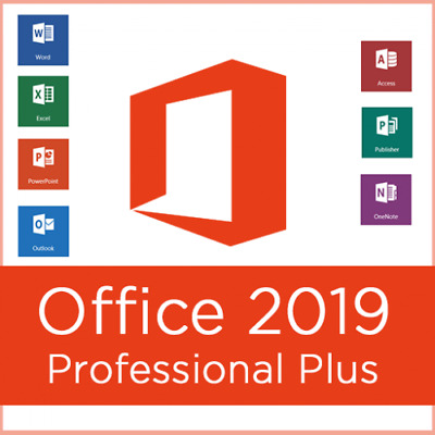 Microsoft Office 2019 Pro Plus 32/64 Lifetime License Genuine Key 1 PC/ INSTANT