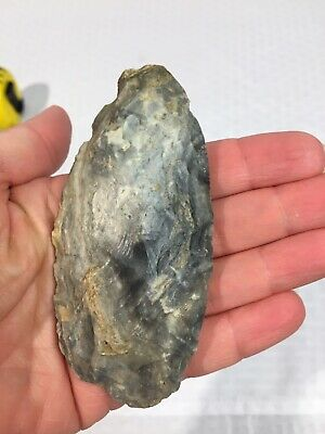 French Swirl Mousterian Neolithic Hand AXE, KNIFE BLADE, STONE FLINT Artifact 25