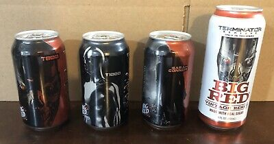 TERMINATOR GENISYS - Big Red Soda - Set Of 4 Cans - Bottom Opened - Box Ships