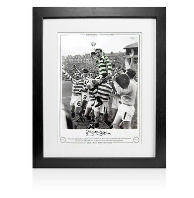 Framed Billy McNeill Signed Celtic Photo - 1965 Scottish Cup Winners