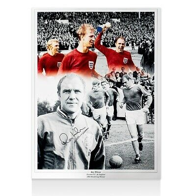 Ray Wilson Signed England Photo - Montage  Autograph